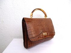 La Toscana Italian Leather Bag Vintage 80s by BlastFromThePastBags, $29.00