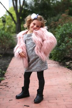For the budding fashionista the appaman faux fur coat for girls