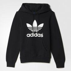 adidas Trefoil Hoodie ($65) u2764 liked on Polyvore featuring tops, hoodies, sweaters, adidas, black, fleece pullover, pullover hooded sweatshirt, black hooded sweatshirt, black pullover hoodie y hooded sweatshirt