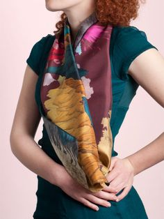 Silk's scarf with spectacular landscape of by CelineDominiak