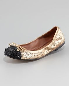 More studs even on the flats  Beatrix Studded Ballerina Flat at CUSP.