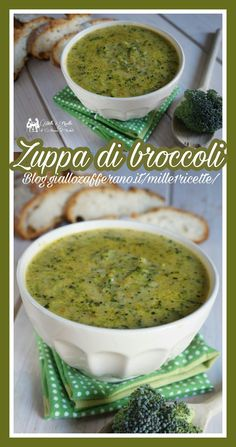 Zuppa di broccoli http://blog.giallozafferano.it/mille1ricette/zuppa-di-broccoletti/