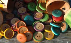 Rainbow Counting Sorting Buttons Montessori Enspired Sensory Wooden Toy on Etsy, $12.00