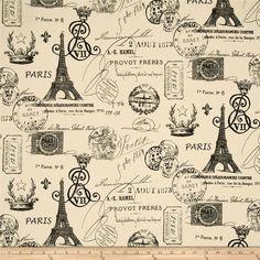 Parisian black and cream fabric