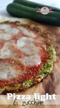 Pizza light di zucchine
