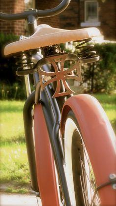 Vintage rat rod bike. Benidorm, Spain, España