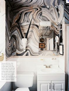 Marble swirls and horns