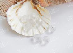 10mm Rock Crystal natural quartz Matte Round от CreativeRoomKartA