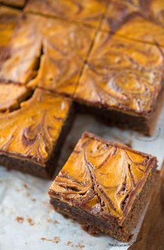 Pumpkin Cheesecake Swirl Brownies | tablefortwoblog.com
