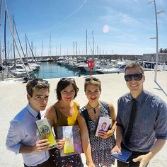 Brothers and sisters from England, Australia, and New Zealand witnessing in Antibes old Town in France covering the English, Chinese, and French field.