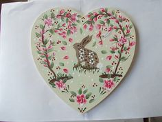 Maria used our Series 2 blossom design to create a beautiful Easter heart. Kits available from www.folkit.co