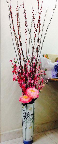 Chinese new year flower arrangement