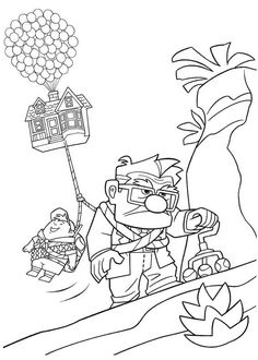 Disney Pixar Up Coloring Pages Free Printable Disney Pixar Up