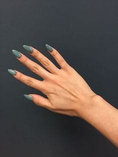 70 Most Stunning Almond Acrylic Nails Design You Must Try in Fall and Winter - N. 70 Most Stunning Almond Acrylic Nails Design You Must Try in Fall and Winter - Nail Idea Coffin Nails Matte, Almond Acrylic Nails, Acrylic Nails Green, Autumn Nails Acrylic, Fall Almond Nails, Rounded Acrylic Nails, Long Almond Nails, Cute Almond Nails, Almond Nail Art