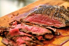 A quick and easy way of cooking lean flank steak on the stovetop.
