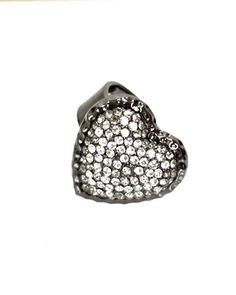 Add a touch of sparkle with this crystal hematite ring.   Imported