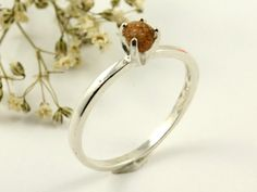 Rough Diamond Ring on Silver  Engagement Ring  by LiansElegance, $129.00