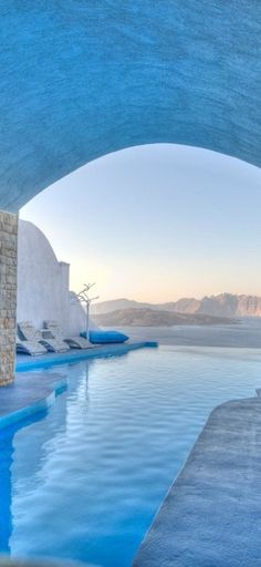 Pool at Astarte Suites #Santorini #Greece