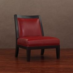 @Overstock - Connor Burnt Red Leather Chair. Add a modern touch to your decor with this contemporary red leather chair. Featuring a durable hardwood base, this accent chair's low back and short legs give it a classic look, and its rich red color and walnut finish enhance its aesthetic value. http://www.overstock.com/Home-Garden/Connor-Burnt-Red-Leather-Chair/4323741/product.html?CID=214117 $234.99