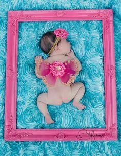Newborn girls photo prop  fuchsia and gold by cutiepiegoodies, $26.00