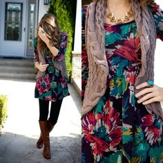 Floral tunic top - BUY @ Shop20sgirlstyle