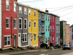 Colorful houses St. John's, Newfoundland Canada