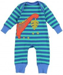 Piccalilly Hungry Dinosaur Playsuit (NB-12mths)