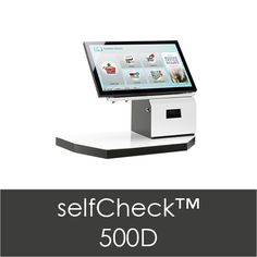 Bibliotheca The 500 but for tabletop use. Same software as 1000 (all the self checks have the same software which is largely the software for their self check line). The 500 doesn't have integrated credit card component. Self Service, Tabletop, Software, Check, Table, Self Care, Countertop