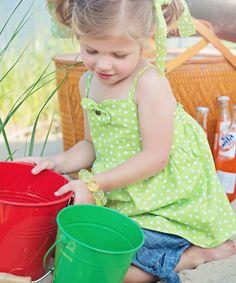 Look at this #zulilyfind! Lime Gidget Top - Toddler & Girls #zulilyfinds
