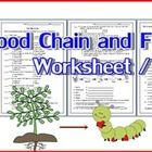 Food Chain and Food Web Worksheet/Test  There are 4 parts included: 1. Match vocabulary with their meaning: 25 items 2. Multiple Choice: 15 items 3...
