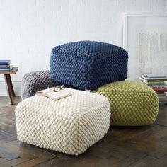 Bubble Knit Pouf