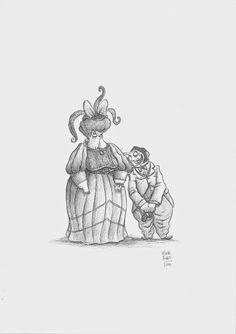 Víctor Rivas Ilustrations: Original Un Tesoro: Los padres de m