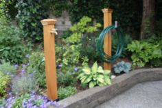 The Petal & Bark Water Post is an elegant solution to the age old problem of where outdoor water taps are placed around your home. Typical