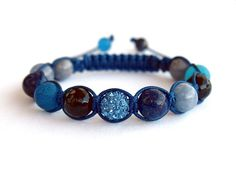 Multi Stone Disco Ball Handmade Shamballa Bracelet by CITBhandmade
