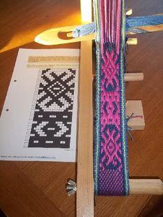 technique du fil repris Inkle Weaving, Inkle Loom, Tapestry Crochet, Knit Crochet, Boho Bags, Pick Up, Textile Art, Needlework, Loom Knit