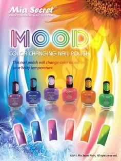 Mia Secret Mood Nail Lacquer Changing Polish Set 6 Diffe Color