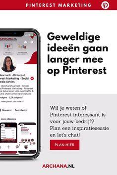 Wil je weten of Pinterest interessant is voor jouw bedrijf? Wil je serieus starten met Pinterest? Plan een gratis kennismakingsgesprek en ik bel je graag om over Pinterest voor je bedrijf te praten. - pinterest tips voor bloggers | pinterest marketing voor bedrijven | pinterest nederlandstalig | pinterest in nederlandse taal | pinterest strategie - ARCHANA.NL - Archana Haarnack Pinterest Marketing, Tips, Teaching, Website, Business, Om, Store, Education, Business Illustration