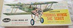 Guillow's Balsa Wood Bi-plane Kit American Thomas Morse S4c Scout Model Aircraft