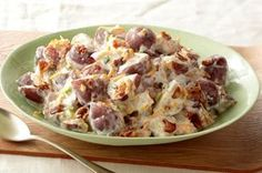 Steakhouse Potato Salad recipe - At the steak house even the potato salad means business, with hearty potatoes, bacon and all kinds of creamy.