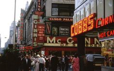 Kodachrome slides of New York, 1940s-1960s