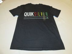 b761c7d7 Men's Quiksilver T Shirt S UNO MTO Yt1surf Skate Kvj0 Black WHT Red Yllw  GRN for sale online | eBay
