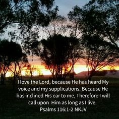 The Lord hears