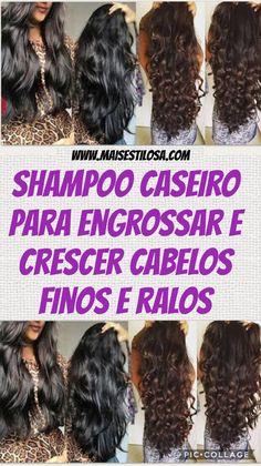 Shampoo caseiro para engrossar e crescer cabelos finos e ralos.?