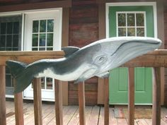 """Minke Whale 50"""" original wooden whale chainsaw carving indoor/outdoor nautical wall mount maritime home art beach bungalow decor by oceanarts10 on Etsy"""