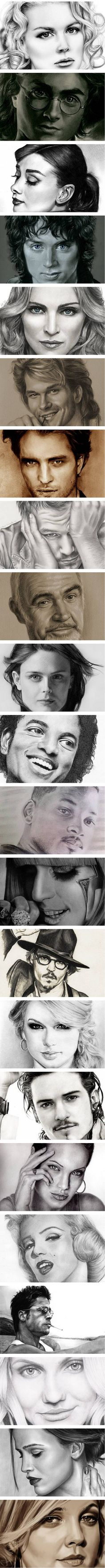 Trying to figure out why some of these drawings look less realistic than the others