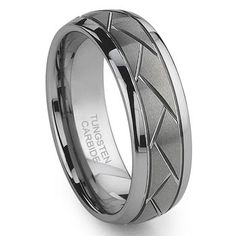 Diamond Cut Tungsten Rings | Tungsten Carbide Diamond Cut Groove Newport Wedding Band Ring,triton