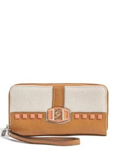 GUESS Pembrook Large Zip-Around, CAMEL MULTI GUESS. $50.00