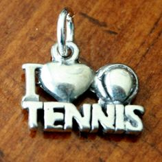 Tennis jewelry is a great gift for yourself, tennis player, tennis mom, tennis coach or someone in your life who loves tennis.  This I Love Tennis pendant charm will make you jump over the net when you wear it on a tennis necklace or bracelet.