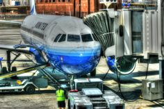 United Airlines Plane at Gate - Aviation Art, Airplane Art, Airplane Photography, Pilot Gift, Aircraft Photography, Airline by ColoredLens on Etsy