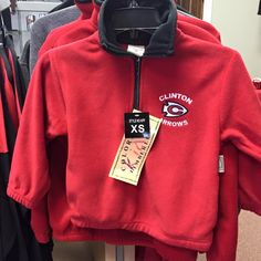 We carry youth sizes in our popular #ClintonArrow pullovers! Only a handful left! Come see us this week.